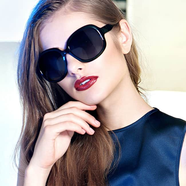 Round Shades Sunglasses for Evening Party