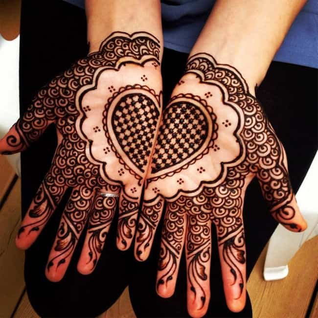 Simple Mehandi Design Images for Wedding