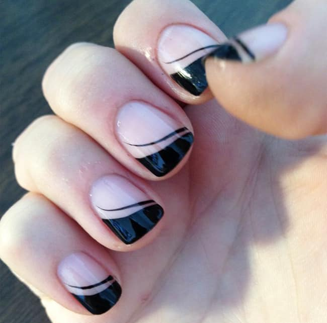 Simple Nail Art Design for Short Nails