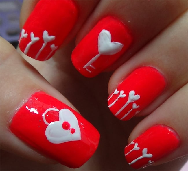 Simple Toe Nail Designs for Valentines Day
