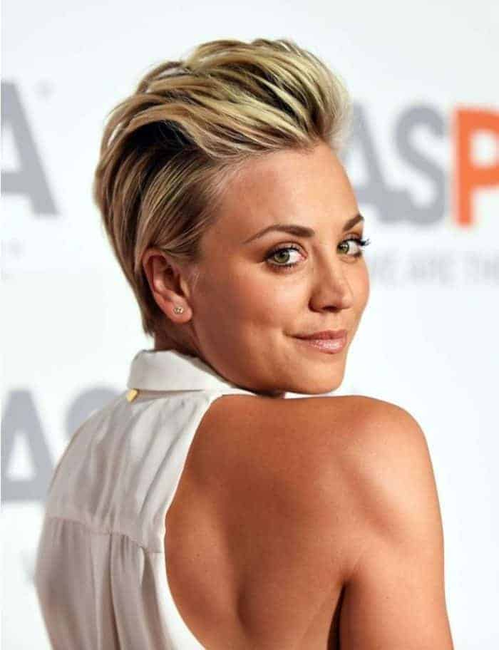 Slick Back Short Hairstyle For Women