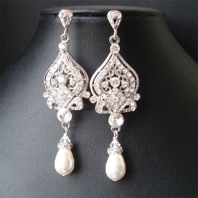 Stylish Chandelier Vintage Bridal Earrings
