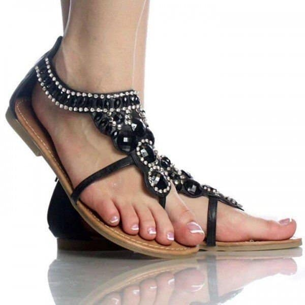 Stylish Flat Sandal Design for Girls