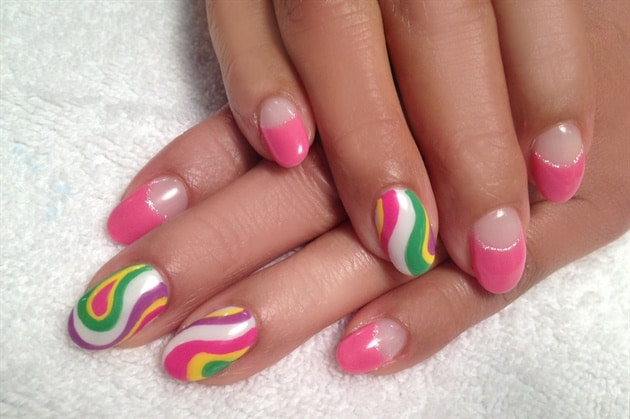 Stylish Hand Painted Nail Art Pictures