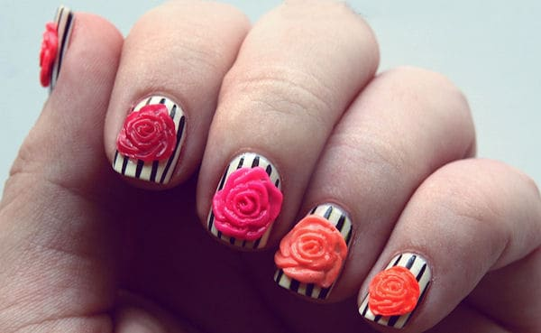 Summer 3D Nail Designs for Short Nails