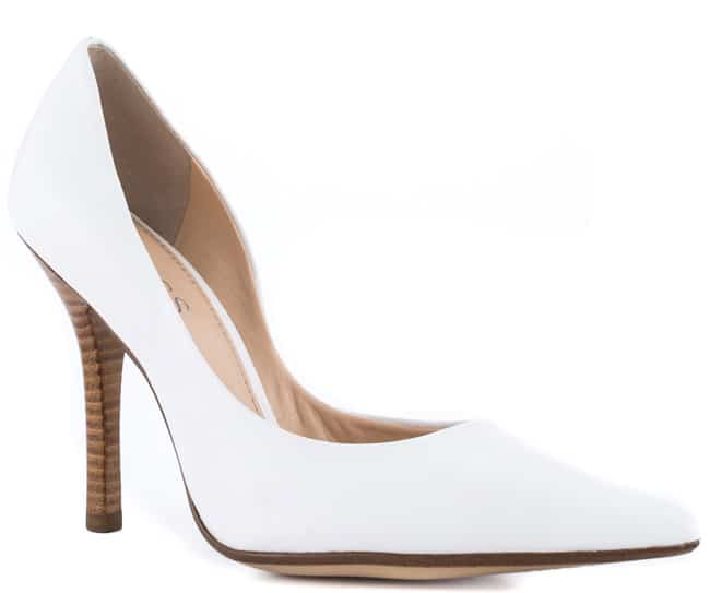 Super Leather Women White Shoes for Evening