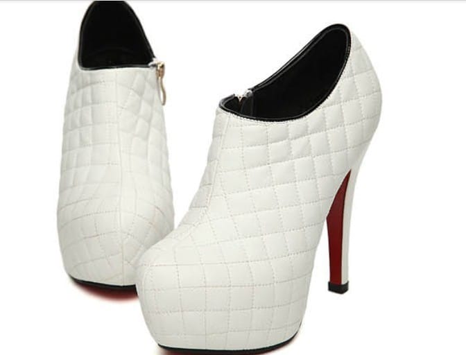 Ladies White Dress Shoes
