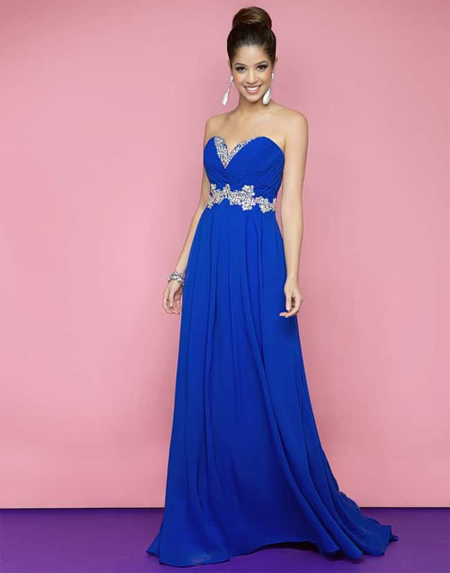Unique Royal Blue Formal Evening Gowns