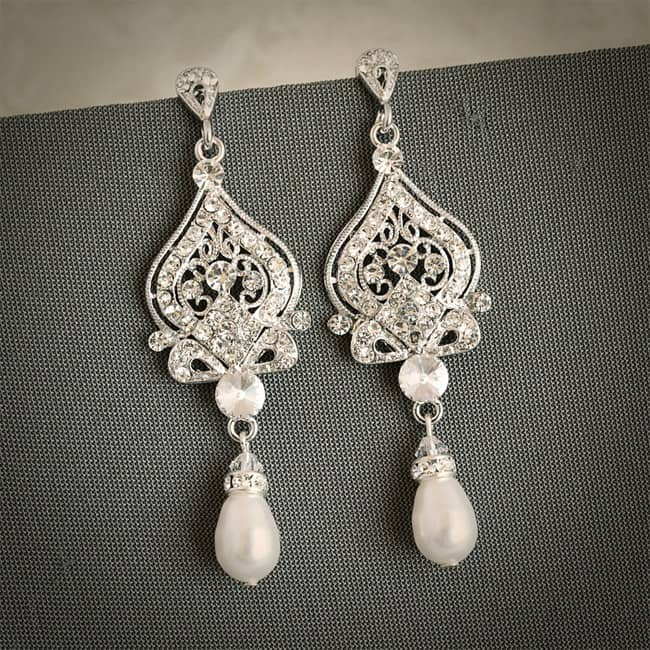 Vintage Rhinestone Chandelier Earring Ideas