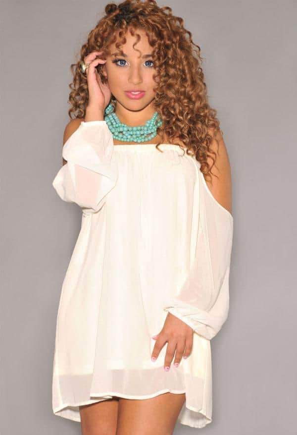 White Summer Dress With Sleeves for Girls