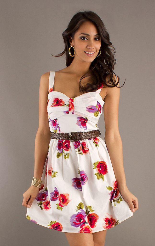 Wonderful White Floral Summer Dress Trends