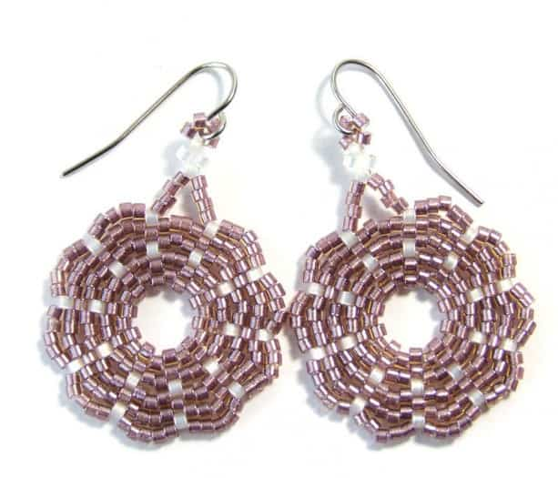Woven Dangle Dusty Rose Earrings 2016-17