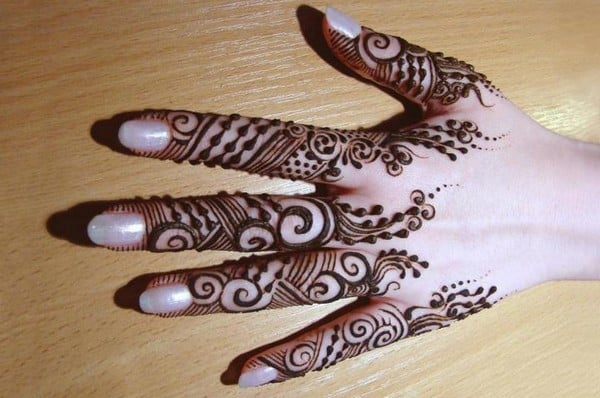 2016 Easy Mehndi Designs for Fingers