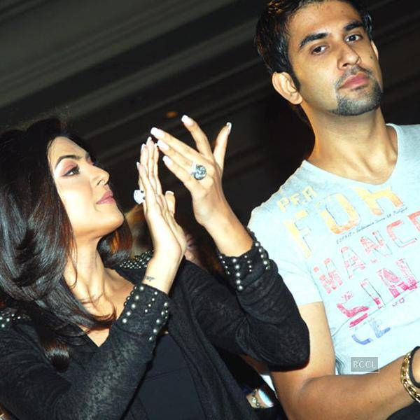 Actress Sushmita Sen with Brother Rajeev Sen