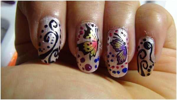 Amazing Butterfly Nails Art Pictures