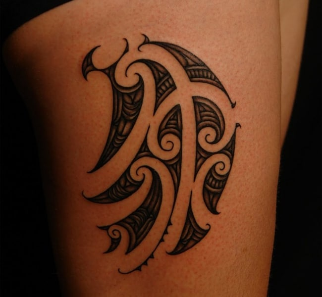 Amazing Maori Tattoos on Thigh