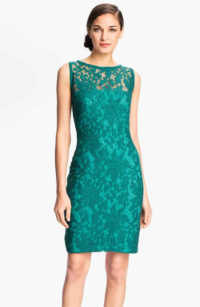Aqua Blue Lace Dress for Wedding