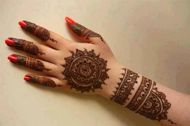 Arabic Finger Henna Designs for Girls