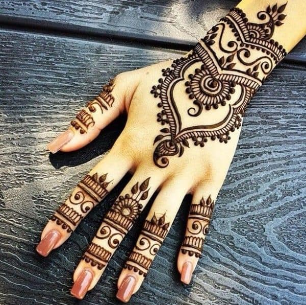 Arabic Style Indian Henna Designs for Girls