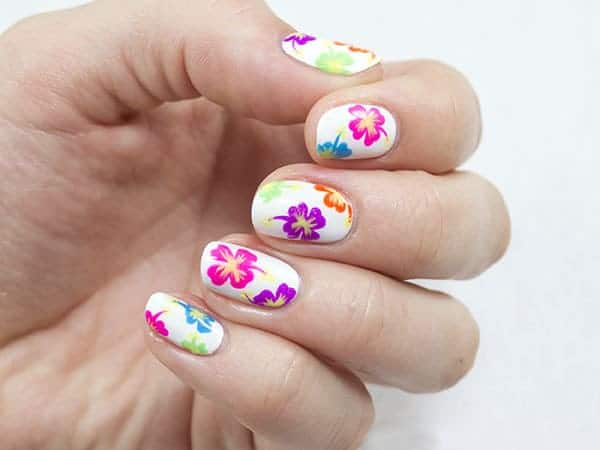 Attractive Floral Nail Art Designs 2016