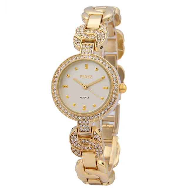 Awesome Analog Gold Watches for Ladies