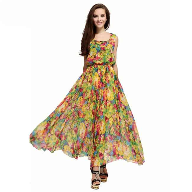 Awesome Flora Printing Maxi Sundresses
