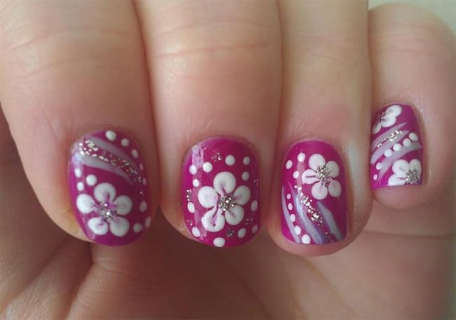Awesome Flower Nails Art Designs 2016