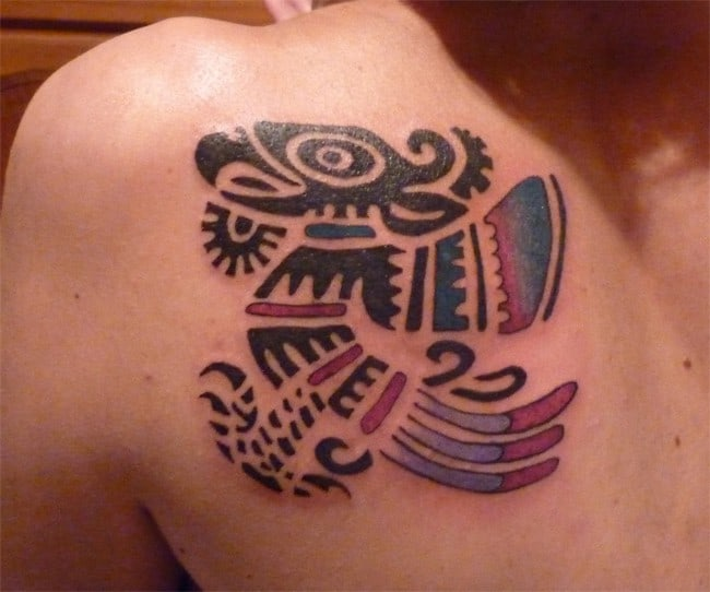 Aztec Bird Tattoo Designs for Women