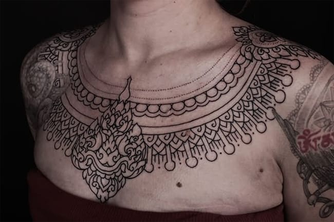 Aztec Symbols and Meanings Neck Tattoo Ink