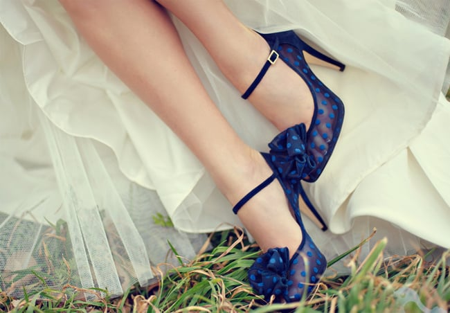 Beautiful Blue Bridal Shoes for Wedding