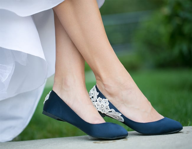 Beautiful Blue Wedding Shoes for Brides 2016