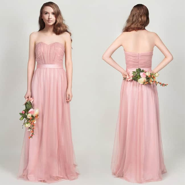 Beautiful Blush Bridesmaids Dresses for Wedding