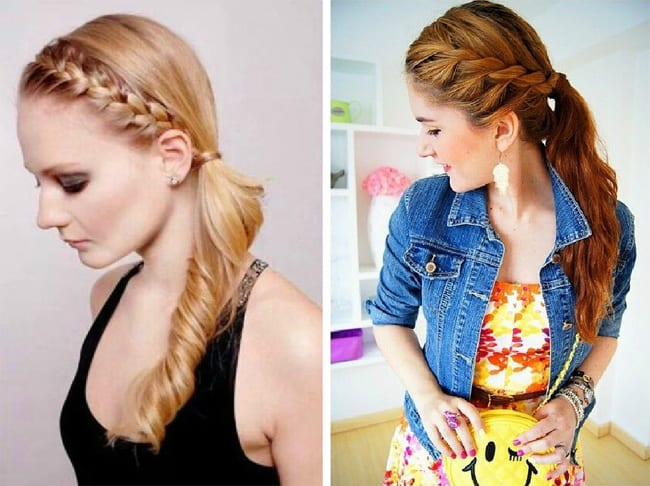 Beautiful Braided Side Ponytail Hairstyles Ideas