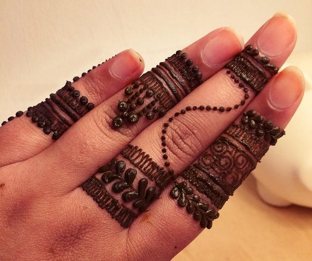 Beautiful Finger Mehndi Designs for Wedding