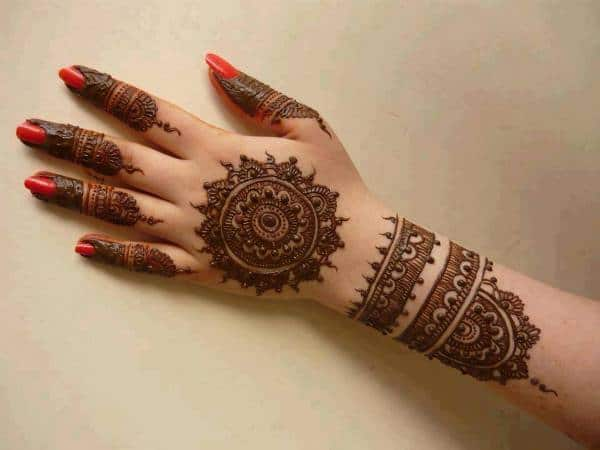 Beautiful Rangoli Henna Designs for Brides