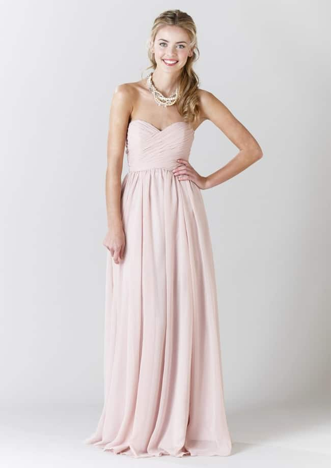 Blush Bridesmaid Light Pink Dress Ideas