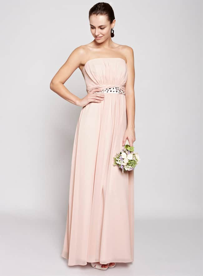 Blush Daisy Floor Length Bridesmaid Dress