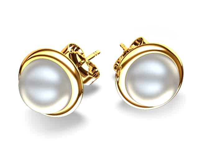 Bridal Gold Pearl Earring Jewellery