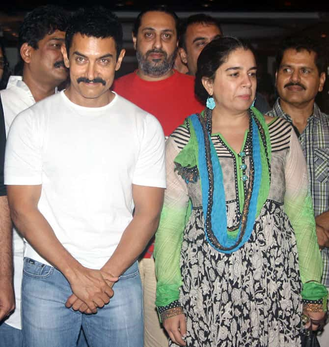 Celebrity Aamir Khan and Reena Dutta