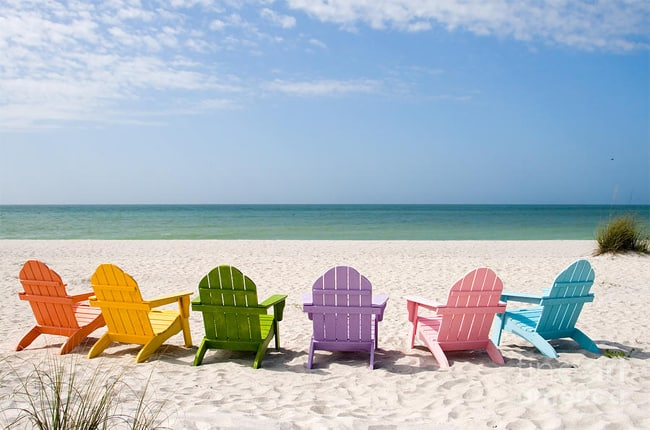 Colorful Beach Chairs Photograph 2016