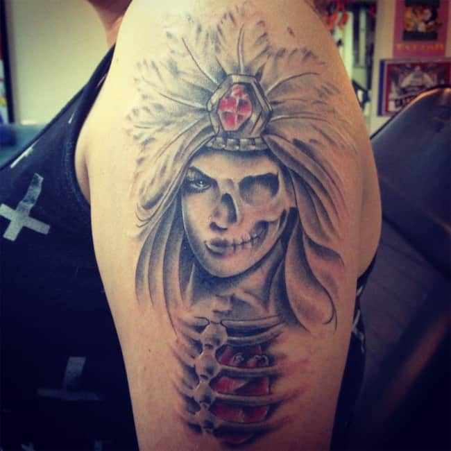 Cool Aztec Warrior Princess Tattoo Ideas
