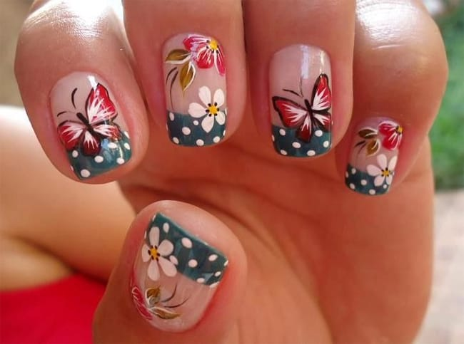 Creative Girls Butterfly Designs for Nails