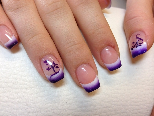 Cute Airbrush Nail Designs for Girls