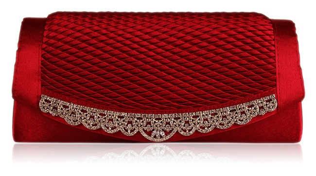 Designer Clutch Red Handbags for Wedding