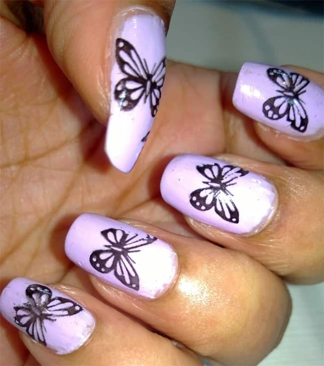 20 Beautiful Butterfly Nail Art Designs Pictures