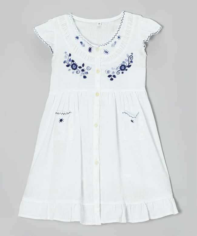 Elegant Embroidered Summer Dresses for Teen Girls