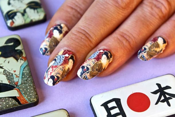 Elegant Japanese Nails Designs for Party
