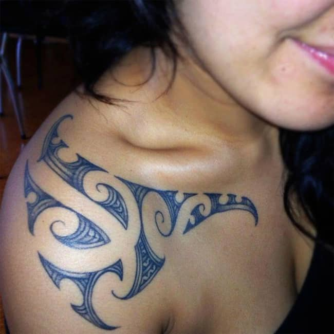 Elegant Maori Female Tattoos Ideas