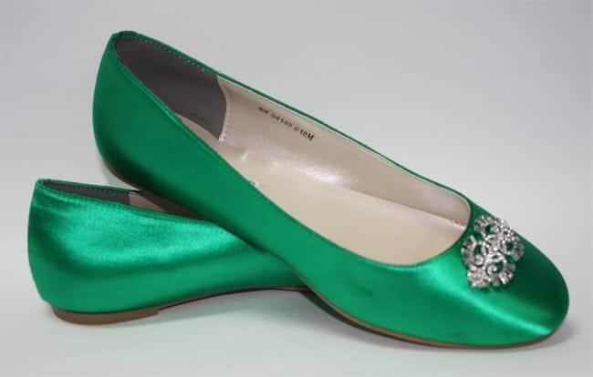 Emerald Green Wedding Flat Shoes for Christmas