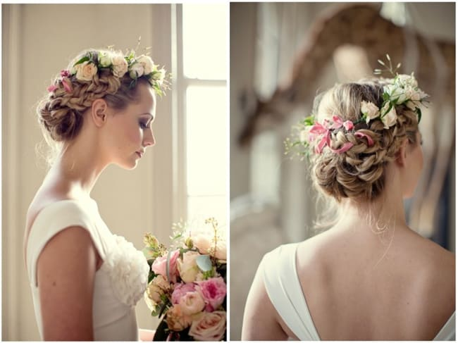 Excellent Braided Hairstyle for Bride